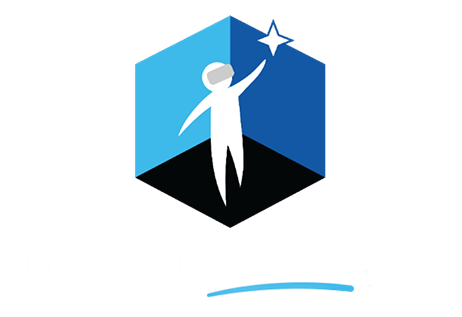 VR Training Guy Logo Learning is Serious Fun